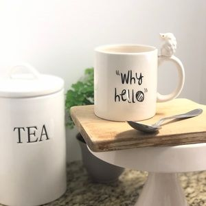 """""""Why Hello"""" mug from Erthenware Nordstrom's"""